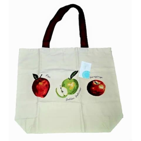 Martha Stewart Apple Canvas Tote - Beige - One Size Fits Most
