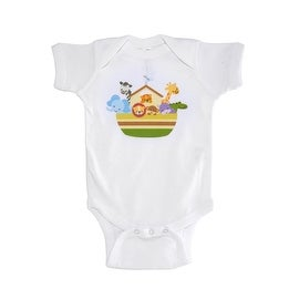 Animated Animal Printed Baby Boy Onesie