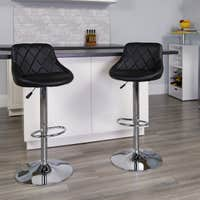Deals on Porch & Den Pearmain Diamond Tufted Bar Stool