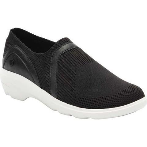 Klogs Women's Evolve Slip-On Sneaker Black/White Knit