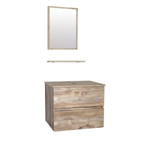 """Raleigh 24"""" Brown Bathroom Vanity Set"""