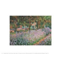 ''The Artist's Garden at Giverny, 1900'' by Claude Monet Mini-Prints Art Print (8 x 10 in.)