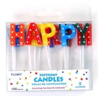 Happy Birthday Pick Candles - 13 Pack - 36 Units