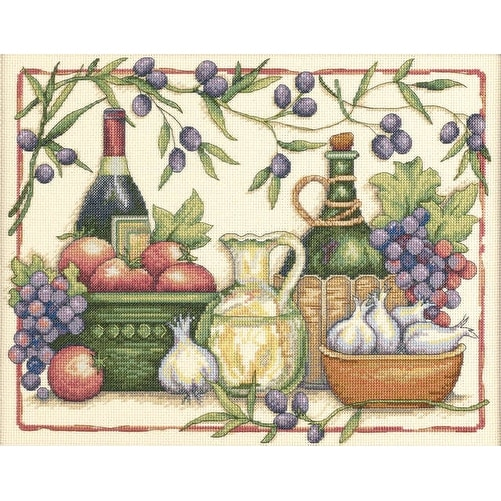 "Tuscan Flavors Counted Cross Stitch Kit-14""X11"" 14 Count"