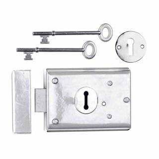 Rim Locks Victorian Chrome 3 H x 4 7/8 W Renovator's Supply