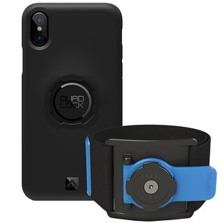 Quad Lock Cell Phone Mounting Adjustable Sports Armband Run Kit for iPhone X