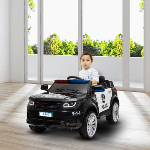 12v Police car dual drive 30W 2 battery with remote control