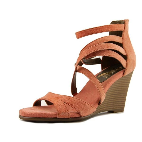 Aerosoles Glossary Coral Suede Sandals