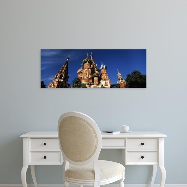 Easy Art Prints Panoramic Image 'View of a cathedral, St. Basil's Cathedral, Red Square, Moscow, Russia' Canvas Art