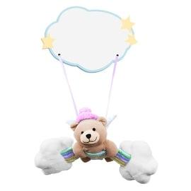 Plush Baby Girl Bear Hanging Name Plaque
