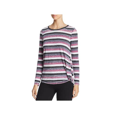 Marc New York by Andrew Marc Womens Pullover Top Heathered Striped - S