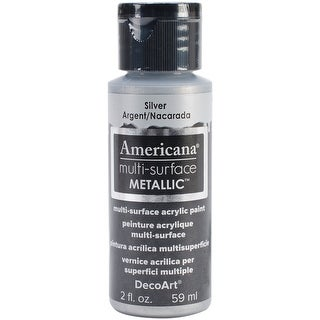 Americana Multi-Surface Metallic Acrylic Paint 2oz-Silver - Silver