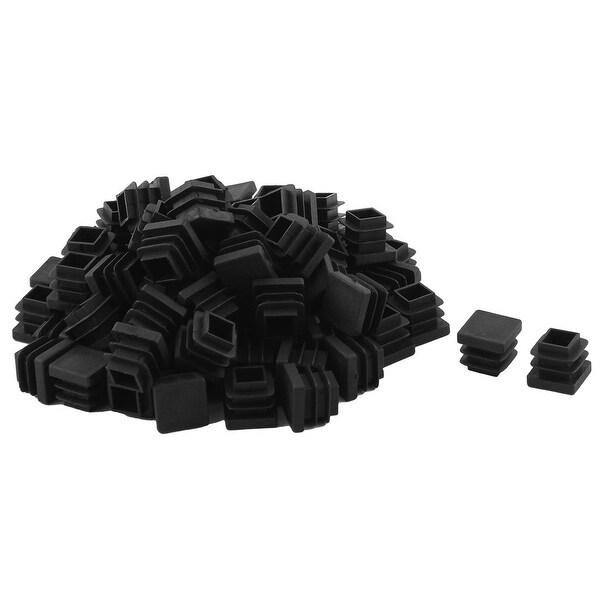 Home Office Plastic Square Table Chair Leg Tube Insert Black 15 x 15mm 80pcs