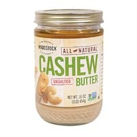 Woodstock Natural Cashew Butter - Case of 12 - 16 oz.