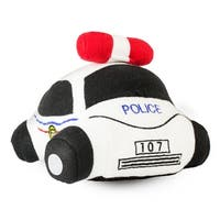 Beverly Hills Teddy Bear Company Stuffed Police Car with Sounds - 5.0 in. x 8.0 in. x 8.0 in.