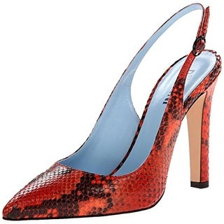 Studio Pollini Womens Python Print Leather Snake Print Pointed Toe Heels - 36 medium (b,m)