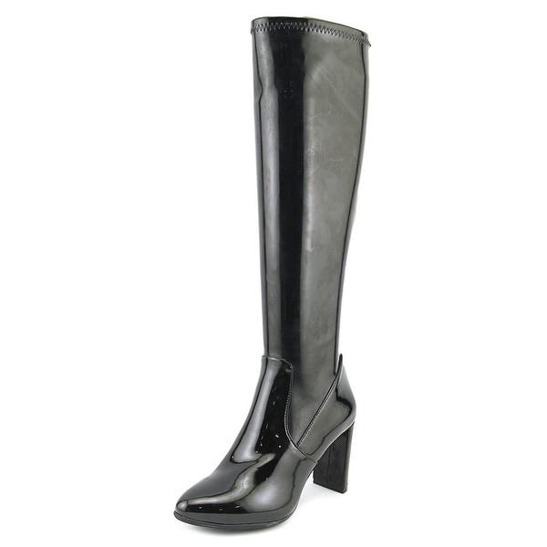 Nine West Kellan Women Round Toe Synthetic Black Knee High Boot