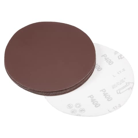 10Pcs 7 Inch Hook and Loop Sanding Disc 400 Grits Flocking Sandpaper Sander - 400 Grits