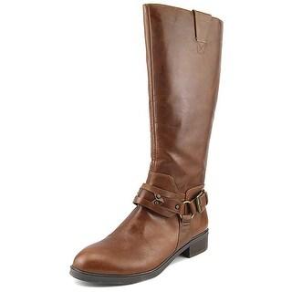Nine West Jamison   Round Toe Leather  Knee High Boot