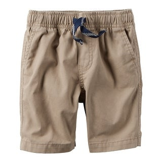 Carter's Baby Boys' Pull-On Canvas Shorts, Khaki, 6 Months