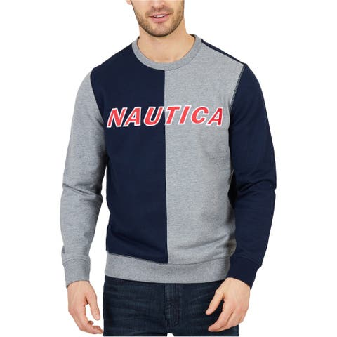 Nautica Mens Water Blocked Sweatshirt, Blue, XX-Large
