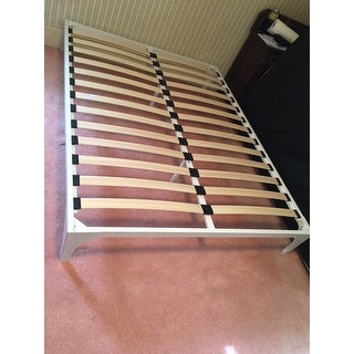 Shop Ollie Bed Frame In White Free Shipping Today