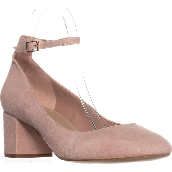 Aldo Clarisse Ankle-Strap Block Heel Pumps, Light Pink