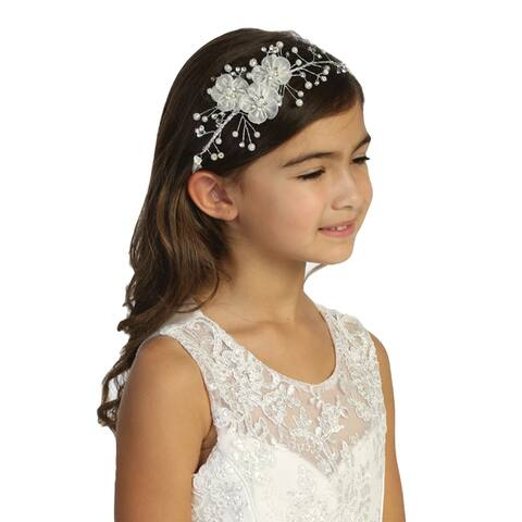 Tip Top Kids Multi Color 3D Floral Head Tie Girls - One Size