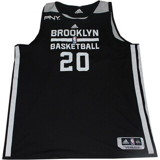 Tornike Shengelia Jersey  Brooklyn Nets 20132014 20 Black and White Reversible Practice Jersey