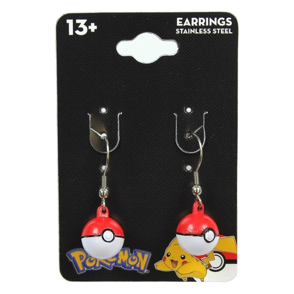 Pokemon Pokeball 3D Dangle Earrings