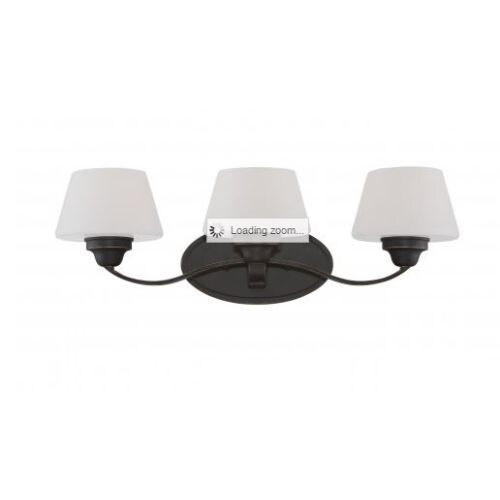 Nuvo Lighting 60/5323 Ludlow 3 Light Bathroom Vanity Light in Russet Bronze