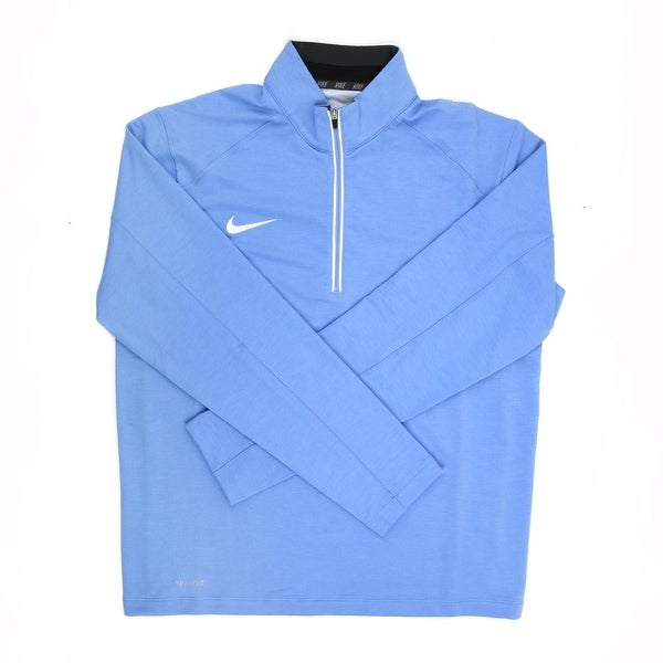 9a813226c63f Shop Nike Dri-FIT Men s Blue White 1 4 Zip Pullover Jacket - Medium - Free  Shipping Today - Overstock - 21293542