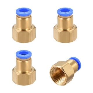 """3/8"""" G Female Straight Thread 8mm Push In Joint Pneumatic Quick Fittings 4pcs - 3/8"""" G x 8mm"""