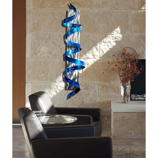 Link to Statements2000 3D Metal Wall Art Accent Sculpture Blue Silver Abstract Decor by Jon Allen - Blue Hurricane Similar Items in Metal Art