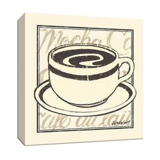 """PTM Images 9-151932  PTM Canvas Collection 12"""" x 12"""" - """"With Cream"""" Giclee Coffee, Tea & Espresso Art Print on Canvas"""