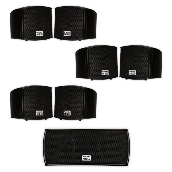 Acoustic Audio AA321B and AA32CB Mountable Indoor Speakers Home 7 Speaker Set