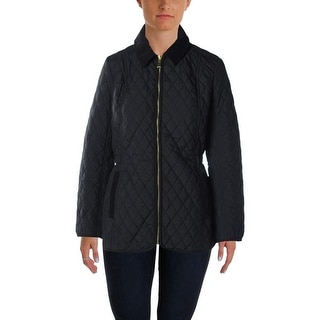 Tommy Hilfiger Womens Jacket Quilted Zip Front