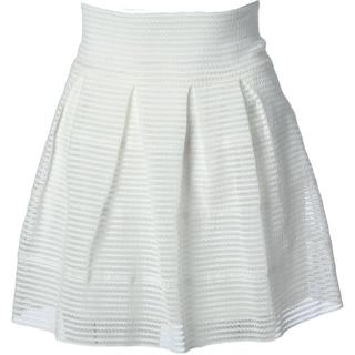 Aqua Womens Metallic Above Knee A-Line Skirt - L