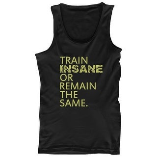 Train Insane or Remain the Same Mens Workout Tanktop Sleeveless Gym Tank