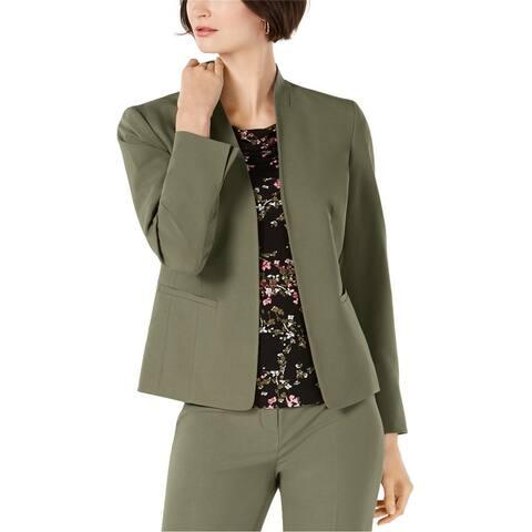 Nine West Womens Solid Blazer Jacket
