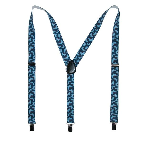 Parquet Women's Elastic Butterfly Print Novelty Suspender