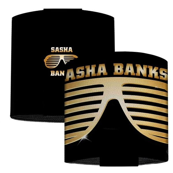 Sasha Banks Shades2 Black Gold Elastic Wrist Cuff