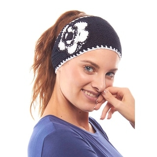 Perfect Pansy Knit Winter Headband