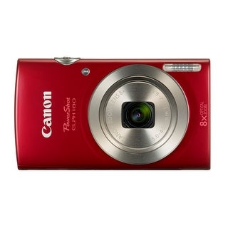 Canon PowerShot ELPH 180 20 MP Digital Camera (Red)
