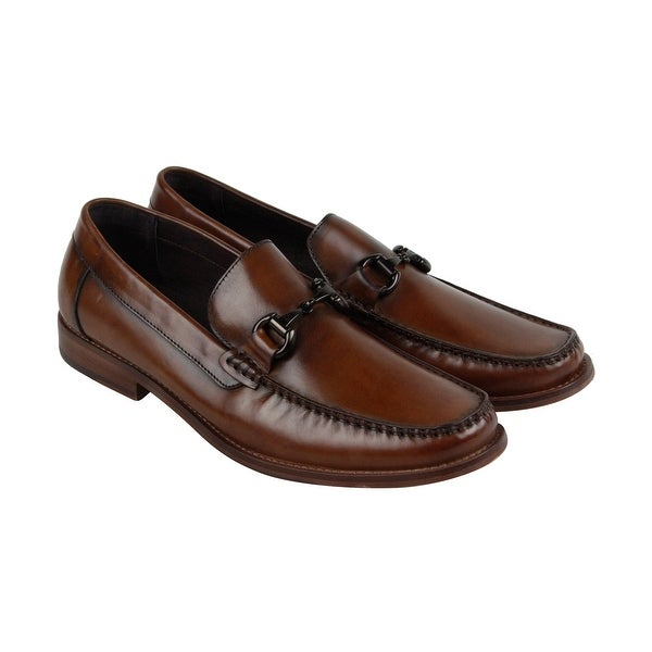 Kenneth Cole New York Design 10063 Mens Brown Leather Casual Dress Loafers Shoes