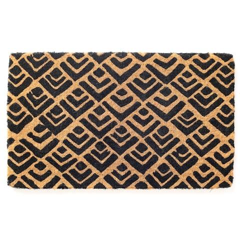 Block Print Doormat Extra Thick Handwoven, Durable