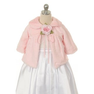 Kids Dream Pink Faux Fur Special Occasion Half Coat Girls 2T