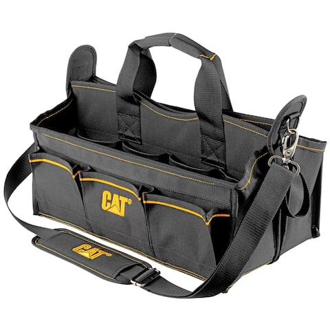 Cat 17 in. Tech Tool Tote 20 Pockets, 2 Hardware Bins 1200D Polyester - 240045