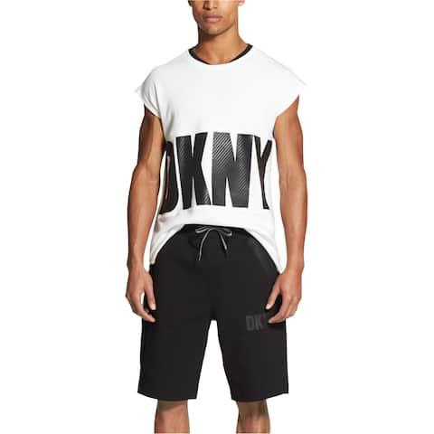 DKNY Mens Athleisure Athletic Sweat Shorts, black, Small