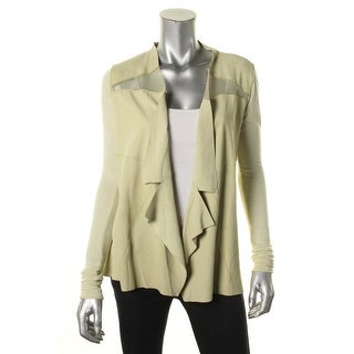 Elie Tahari Womens Mesh Inset Long Sleeves Jacket